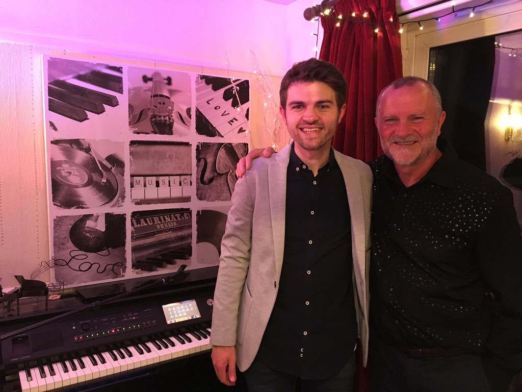 Liam and Tony White,hanger farm virtual stage